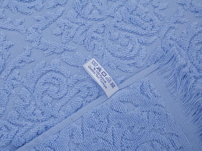 Desta Jakarlı Ayak Havlusu 50x70 Cm Mavi