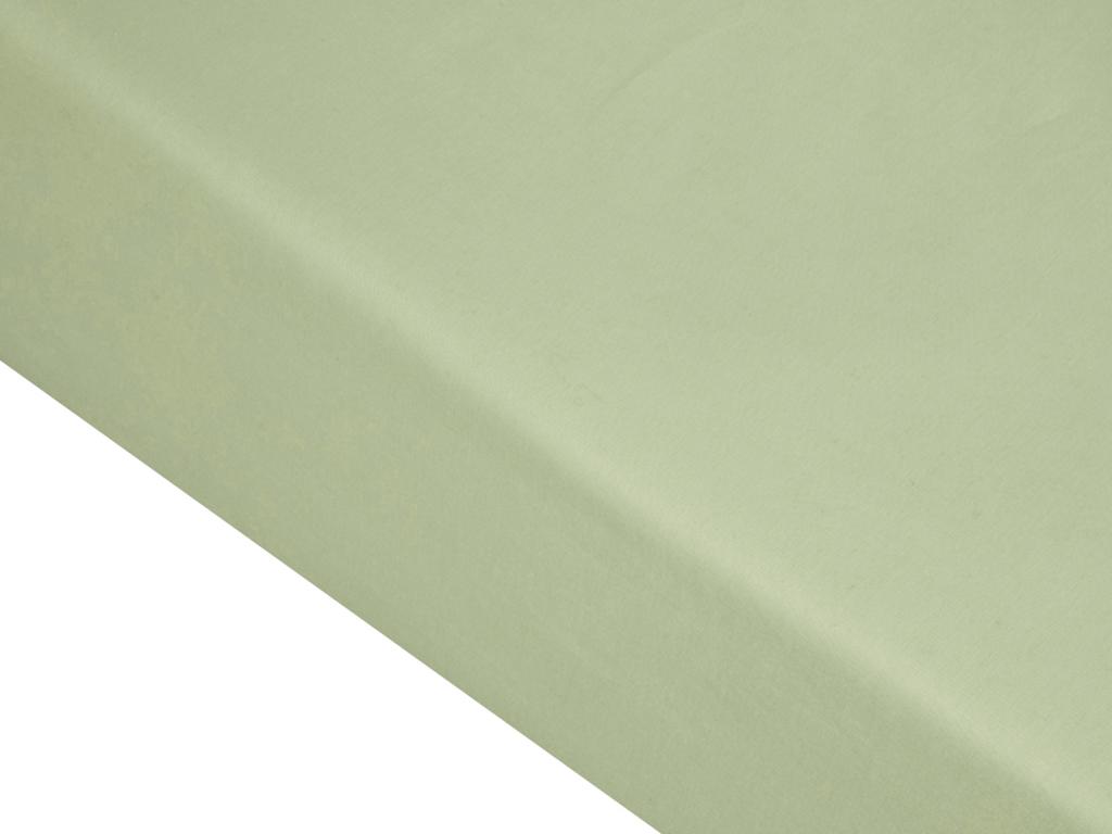 Düz Pamuklu Battal Lastikli Çarşaf 180x200 Cm Yeşil