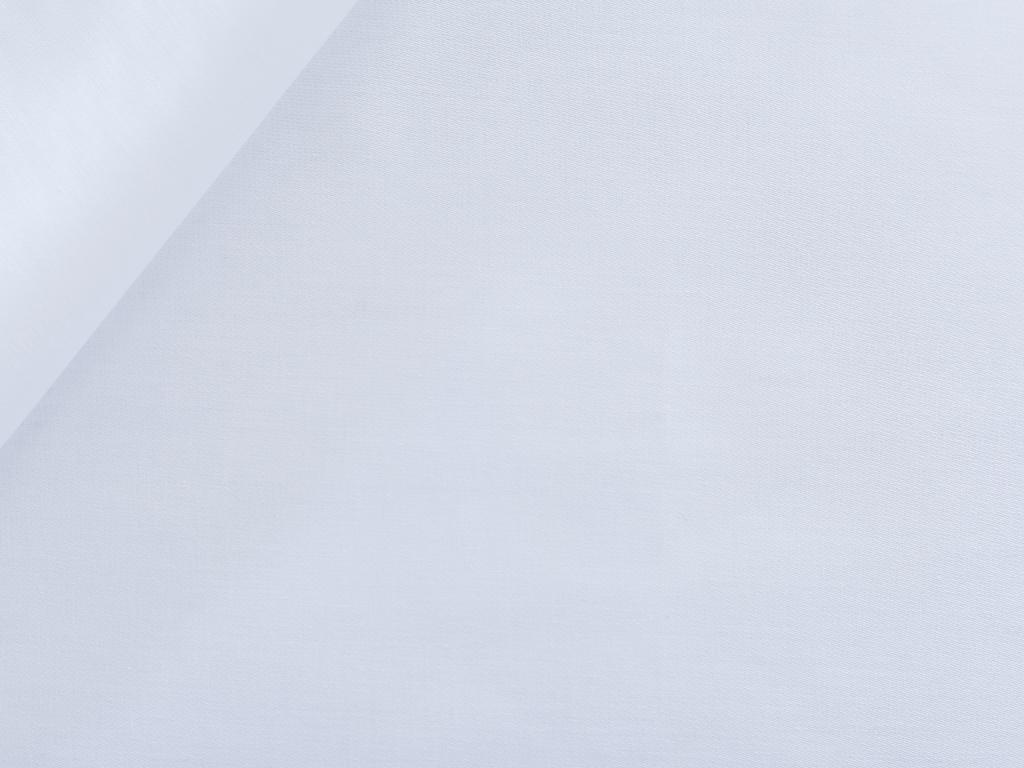 Düz Pamuk Saten Tek Kişilik Çarşaf 160x240 Cm Beyaz