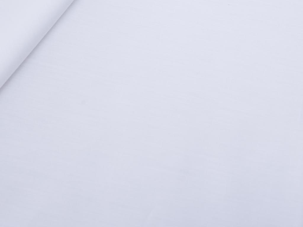 Düz Pamuk Saten Çift Kişilik Çarşaf 240x260 Cm Beyaz