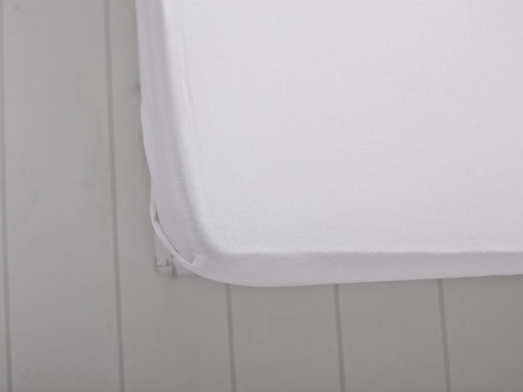Düz Pamuklu Çift Kişilik Çarşaf 240x260 Cm Beyaz