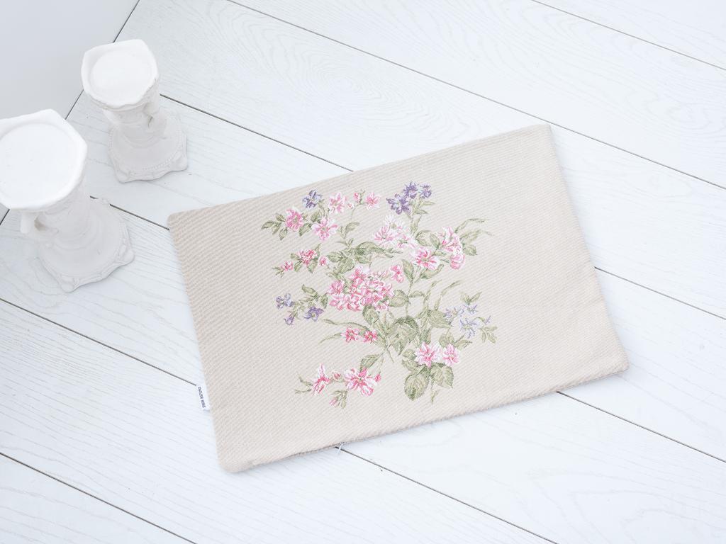 Flower Bunch Goblen Kırlent 35x50 Cm Açık Bej