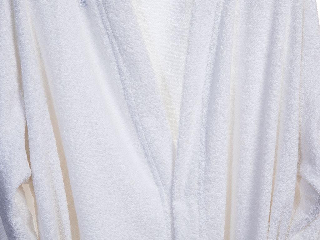 Plain Pamuklu Bayan Bornoz M Beyaz