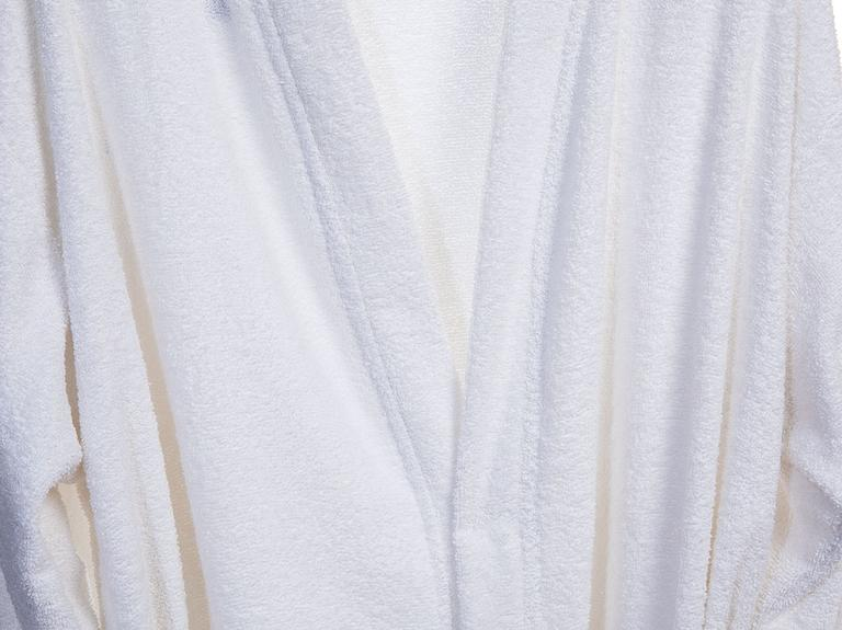 Plain Pamuklu Bayan Bornoz Xl Beyaz