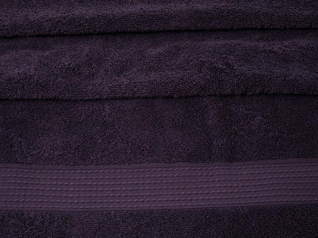 Pure Basic Banyo Havlusu 70x140 Cm Koyu Mor