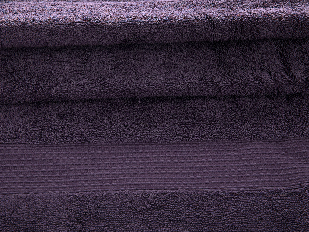 Pure Basic Banyo Havlusu 100x150 Cm Koyu Mor