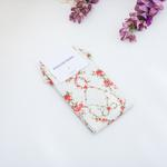 Rose Bows Dijital Baskı Bayan Soket Çorap 35-39 Açık Krem