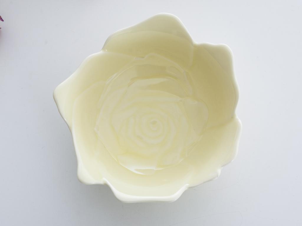 Rose Stoneware Kase 13x13x5 Cm Sarı