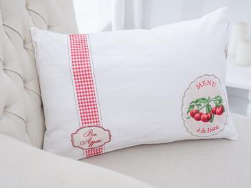 Strwberry Baskılı Kırlent Kılıfı 35x50 Cm Kırmızı