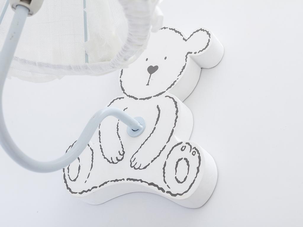 Bear Kids Mdf Duvara Asmalı Abajur 28x20x26 Cm Krem