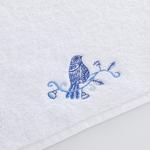 Birdly Nakışlı El Havlusu 30x45 Cm Beyaz