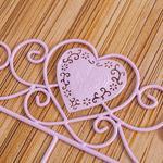 Heart Ferforje 3'lü Askı 29,0x5,5x21,0 Cm Açık Pembe