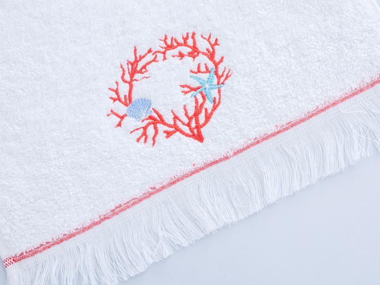 Nefina Nakışlı El Havlusu 30x45 Cm Beyaz