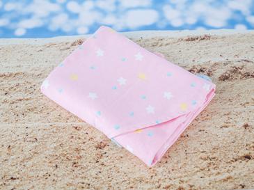Pastel Lovers Baskılı Yuvarlak Plaj Havlusu 150 Cm Açık Pembe