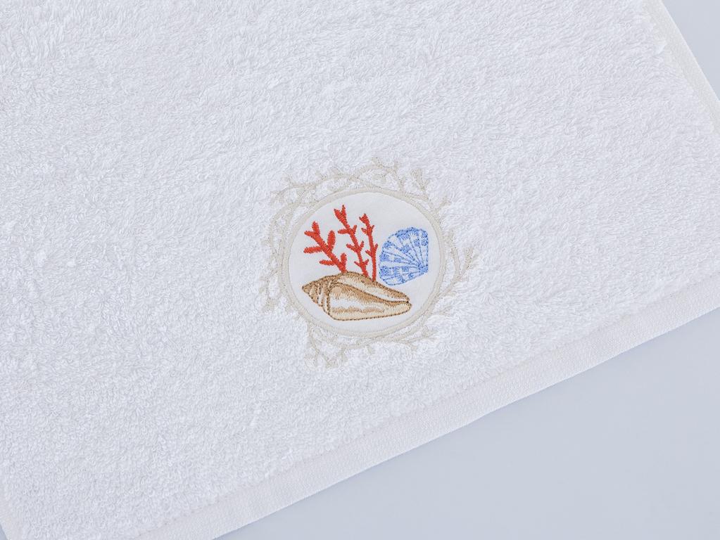 Resina Nakışlı El Havlusu 30x45 Cm Beyaz