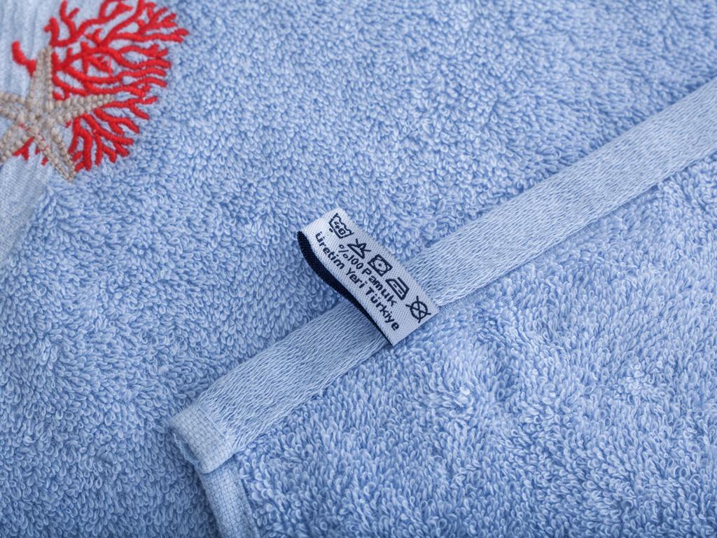 Rolly Nakışlı El Havlusu 30x45 Cm Açık Mavi