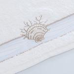 Undersea Nakışlı El Havlusu 30x45 Cm Beyaz