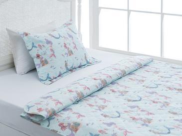 Love Mermaids Tek Kişilik Çocuk Yatak Örtü Tkm 160x240 Cm Mint