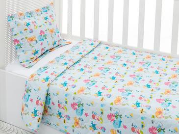 Mermaids Bebek Yatak Örtü Takımı 100x150 Cm Pembe