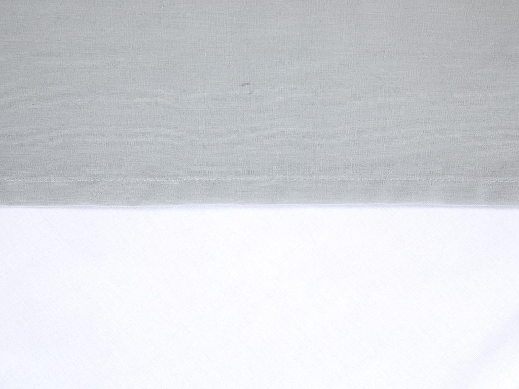 Düz Pamuklu Tek Kişilik Çarşaf 160x240 Cm Gri