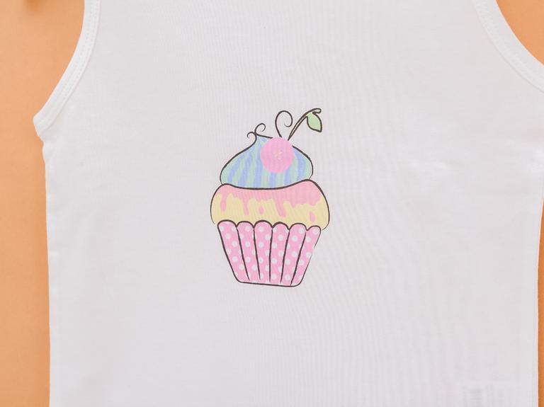 Spotty Cupcake Pamuklu Keseli Çocuk Pijama Takımı 3-4 Yaş Pembe