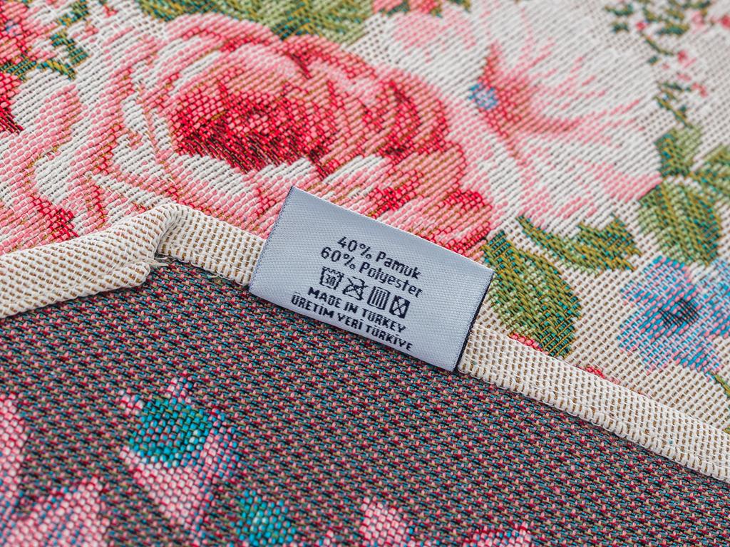 Paradise Rose Goblen Runner 35x110 Cm Açık Bej