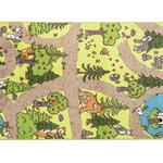 Secret Forest Baskılı Halı 100x160 Cm Yeşil - Açık Yeşil