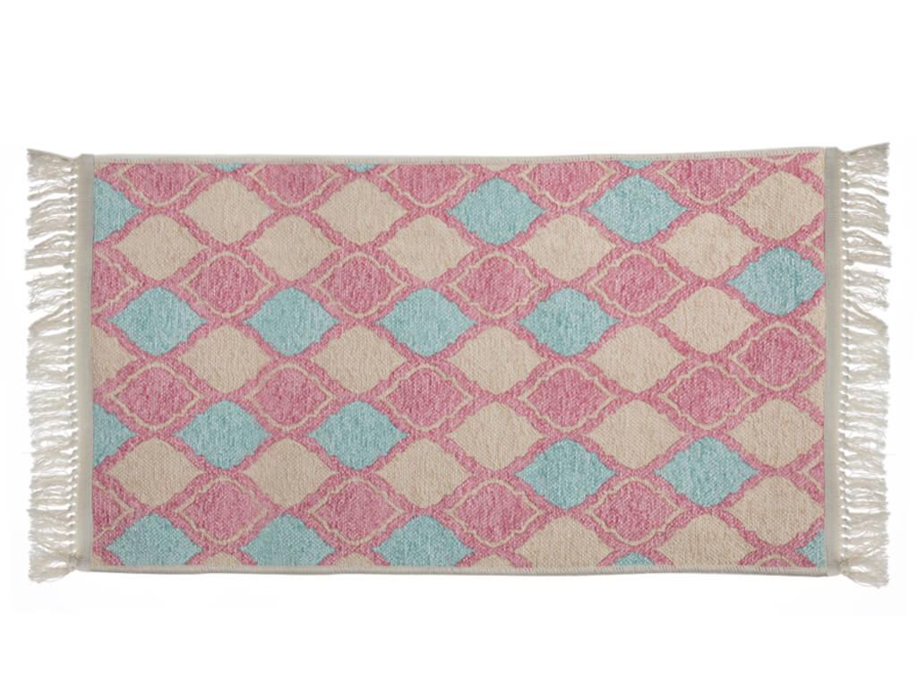 Trend Tiles Şönil Halı 80x150 Cm Pembe - Mint