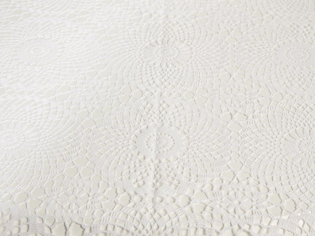 Odri Vinil Masa Örtüsü 178 Cm Beyaz