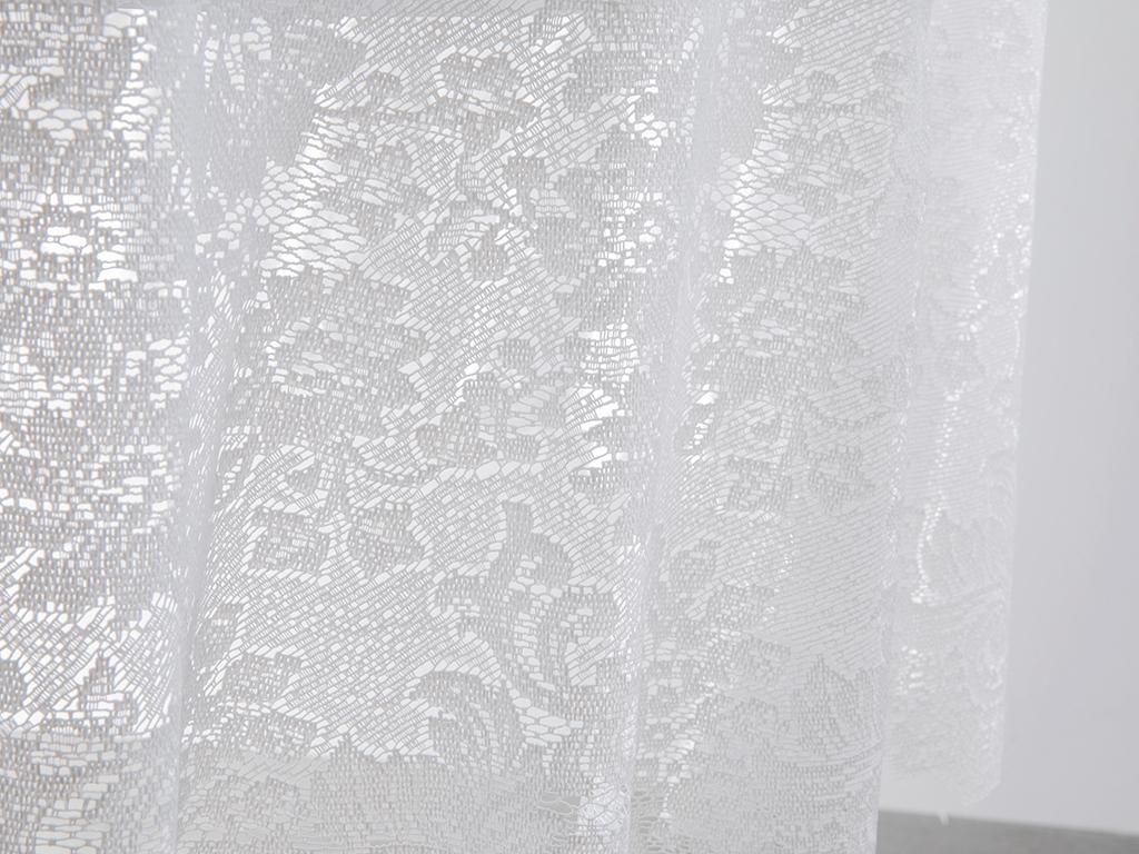 Big Rose Vinil Masa Örtüsü 152 Cm Beyaz