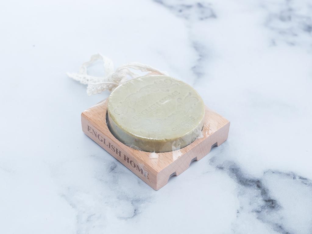 Camomile Ahşap Sabunluklu Sabun 100 Gr Yeşil