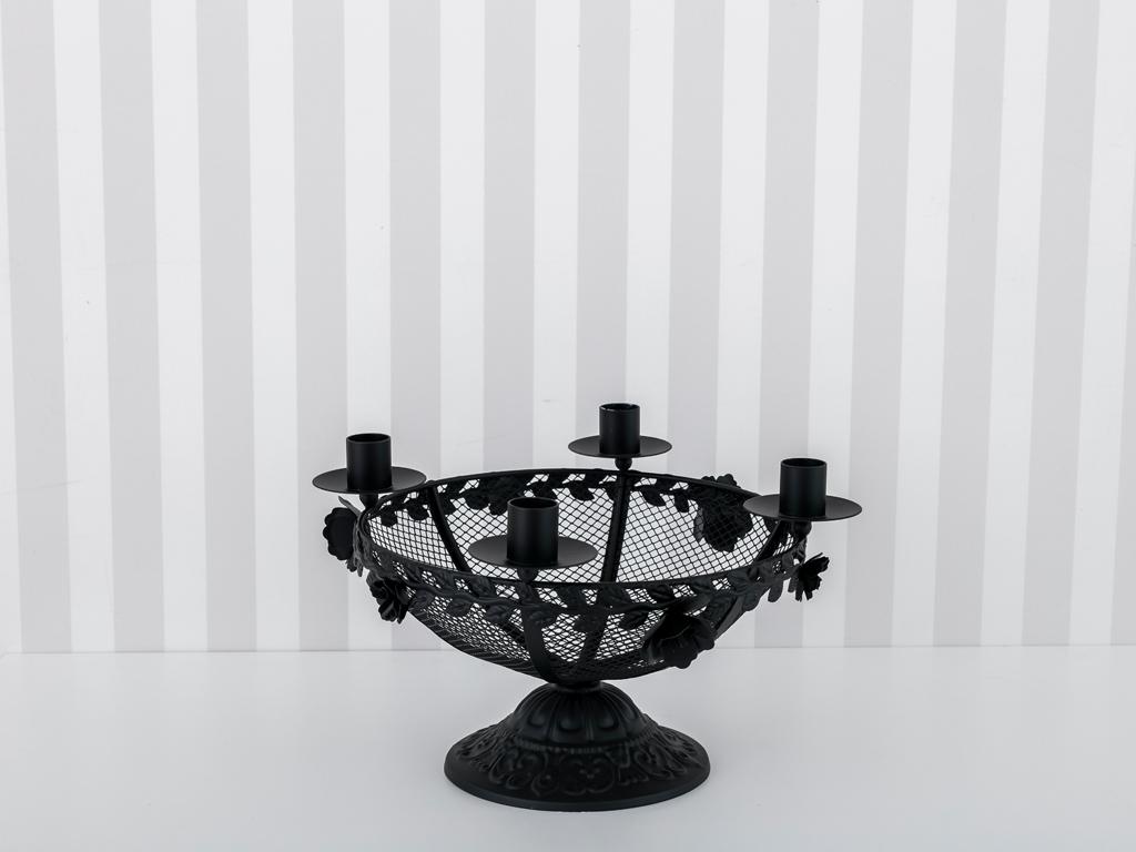 Black Magic Ferforje Şamdan 31x31x17 Cm Siyah