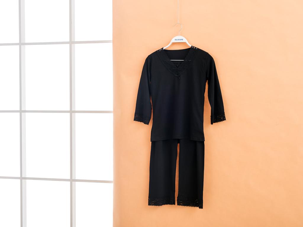 Black Magic Modal Bayan Pıjama Takımı S Siyah