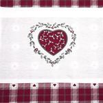 Loving Pamuklu Mutfak Önlüğü 70x90 Cm Beyaz - Kırmızı