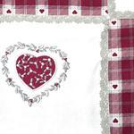 Loving Pamuklu Mutfak Kırlentı 40x40 Cm Beyaz - Kırmızı