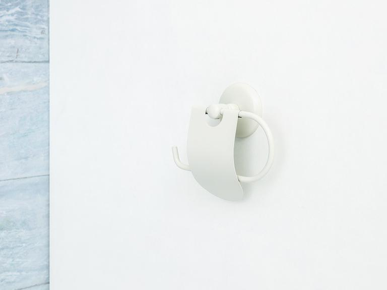 Plain Metal Kapaklı Tuvalet Kağıtlığı 14,7x15,0 Cm Ekru