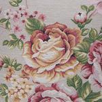 Autumn Flowers Goblen Kırlent 45x45 Cm Açık Bej