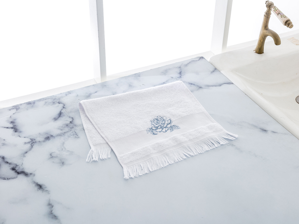 Rambler Rose El Havlusu 30x45 Cm Beyaz - Mavi