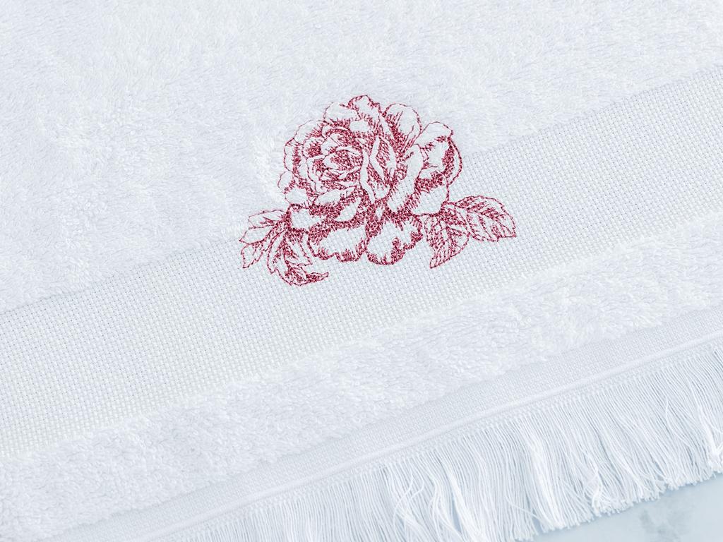 Rambler Rose El Havlusu 30x45 Cm Beyaz - Pembe