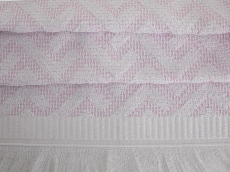 Scandinavian El Havlusu 30x45 Cm Beyaz - Pembe