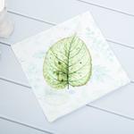 Secret Dijital Baskı Kırlent 40x40 Cm Beyaz - Yeşil