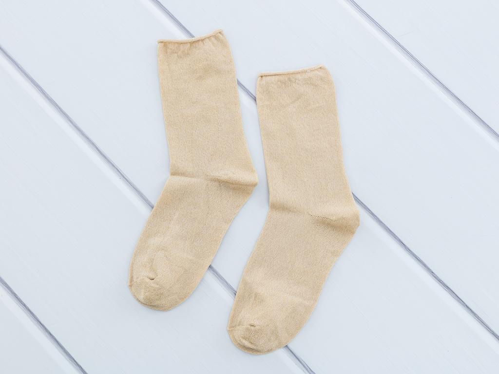 Simli Polyamid Bayan Soket Çorap 35-39 Bej