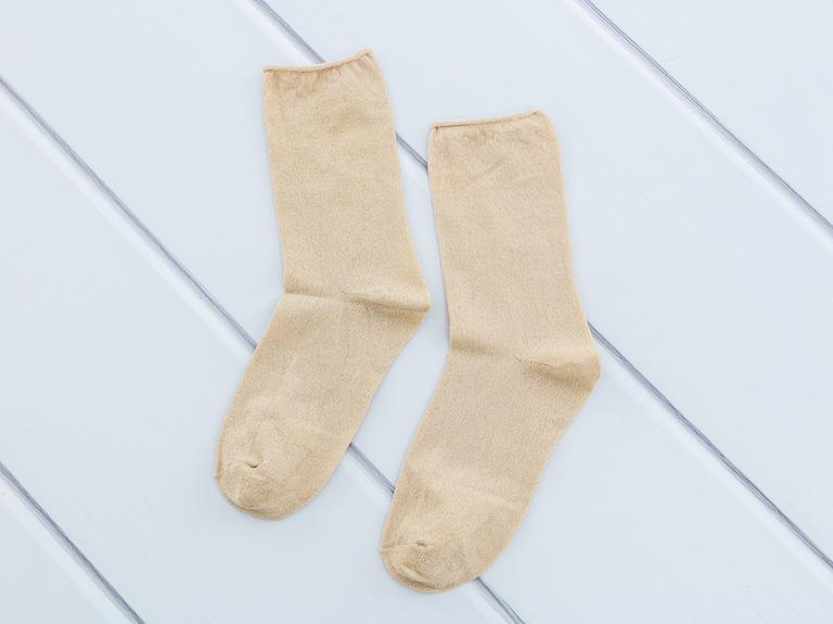 Simli Kadın Soket Çorap 35-39 Bej