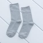 Simli Polyamid Bayan Soket Çorap 35-39 Gri