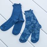 Big Rose Pamuk Bayan Soket Çorap 35-39 Lacivert