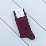 Brook Pamuk Tekli Çorap 40-44 Bordo