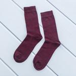 Brook Pamuk Tekli Çorap 40-44 Bordo