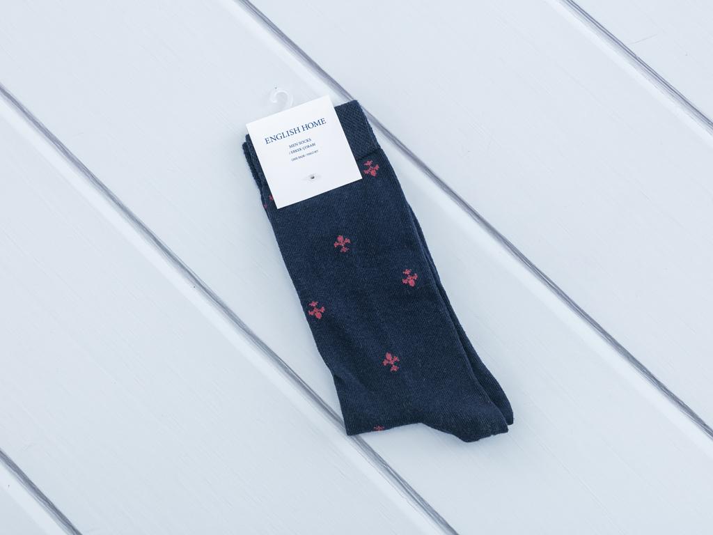 Brook Pamuk Tekli Çorap 40-44 Lacivert