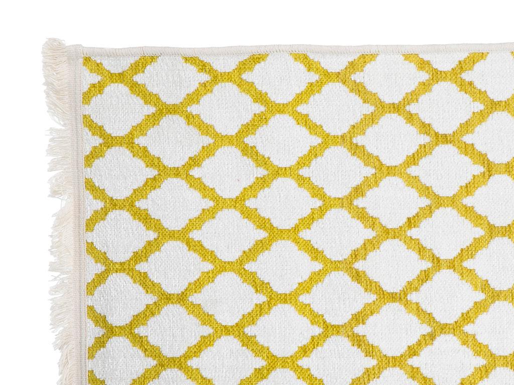 Lemon Şönil Şönil Halı 80x150 Cm Beyaz - Sarı