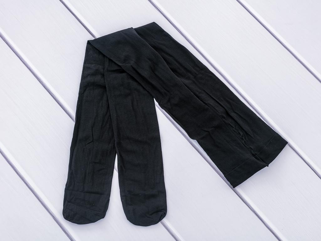 Düz Pamuklu Külotlu Çorap 1 Siyah